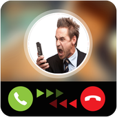 Calling prank angry boss icon