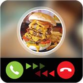 Calling prank burger icon