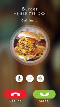 Calling prank burger poster