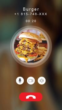 Calling prank burger apk screenshot