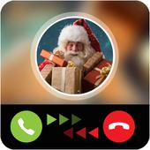 Santa calling prank icon