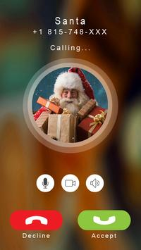 Santa calling prank poster