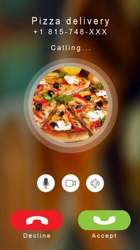 Pizza calling prank poster