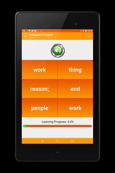 CFMS Portuguese Vocabulary apk screenshot