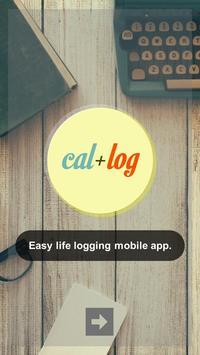 Calendar Logging (cal+log) poster