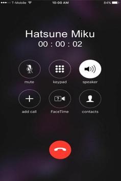 Real Call From Hatsune Miku Prank screenshot 2