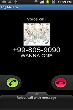 Real Call From Wanna One Prank screenshot 1