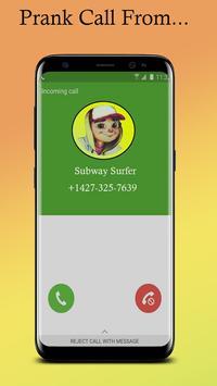 Call From Subway Surfer simulator apk screenshot