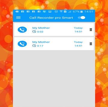 call recorder pro smart apk screenshot