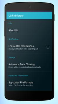 Automatic call recorder FREE apk screenshot
