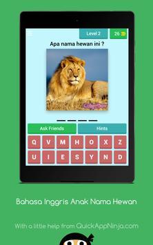 Bahasa Inggris Anak : Nama Hewan screenshot 9