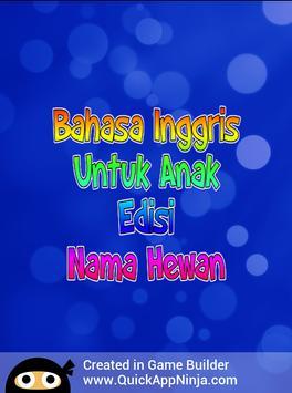 Bahasa Inggris Anak : Nama Hewan screenshot 18
