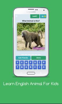 Learn English Animal For Kids poster