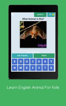 Learn English Animal For Kids apk screenshot
