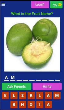 Lets Learn English Fruit Name poster