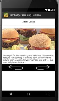 Hamburger and Burger Recipes apk screenshot