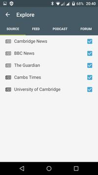 Cambridge free news apk screenshot