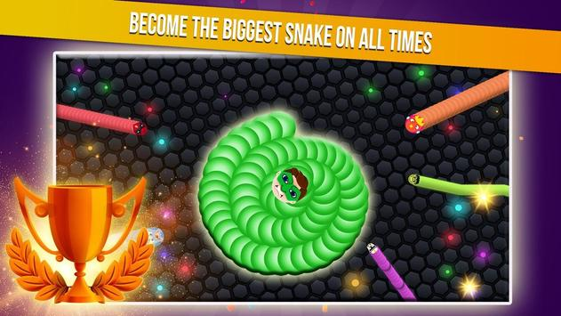 Slither Snake.io - Worm Eater Dash With Masks screenshot 3