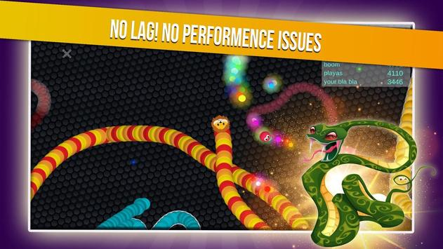 Slither Snake.io - Worm Eater Dash With Masks screenshot 4