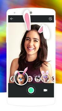Rabbit Face Camera-Free cartoon funny sticker poster