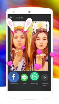 Rabbit Face Camera-Free cartoon funny sticker apk screenshot