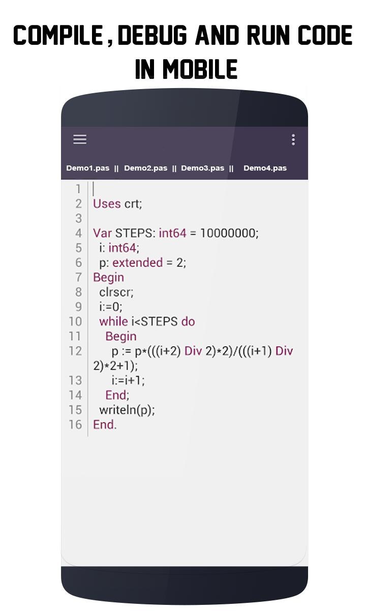 Pascal Compiler - Mobile IDE for Android - APK Download