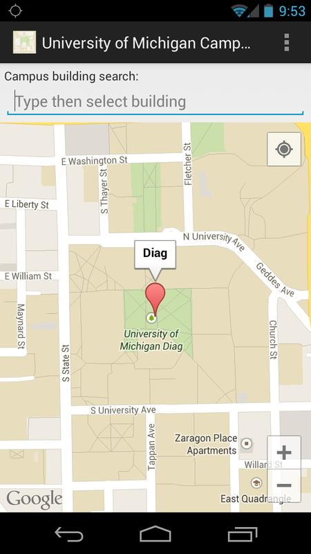 Campus Map For Umich For Android Apk Download