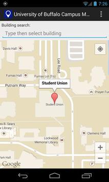 Map for University at Buffalo poster