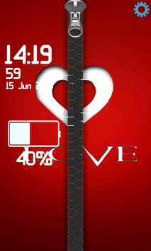 Zipper Lock Screen poster