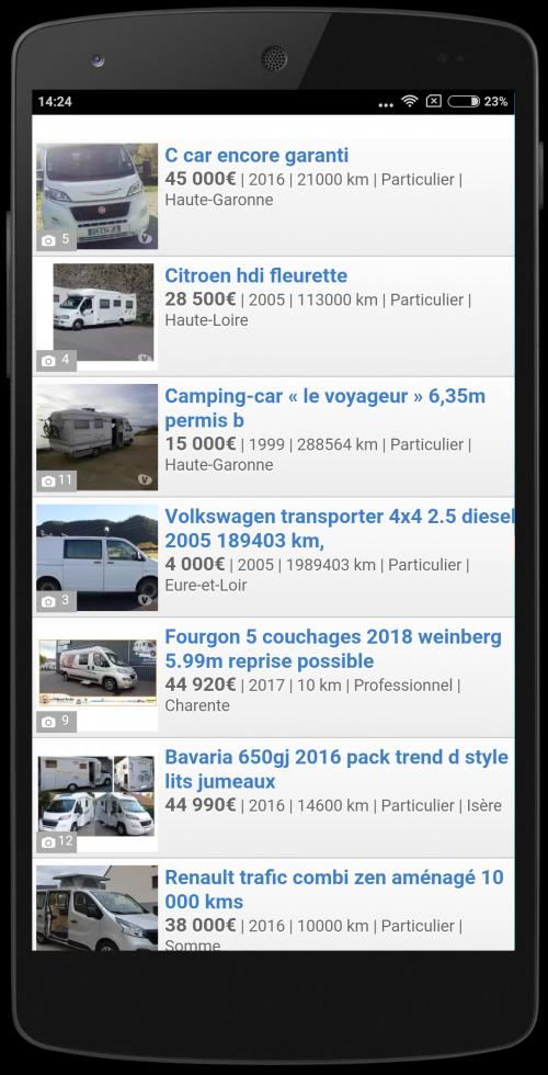 Camping Car Occasion France For Android Apk Download