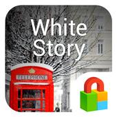 White Story Dodol Locker Theme icon