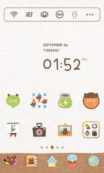 Honey Bear Dodol Theme apk screenshot