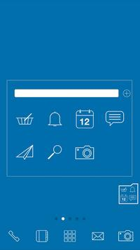 Simple_blue LINELauncher theme screenshot 1