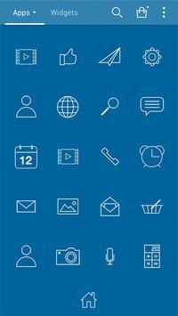 Simple_blue LINELauncher theme screenshot 2