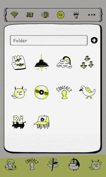 NeonYellow Drawing Dodol Theme screenshot 2