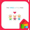 three little pigs dodol theme icon