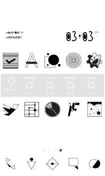 Mono graphic dodol theme apk screenshot