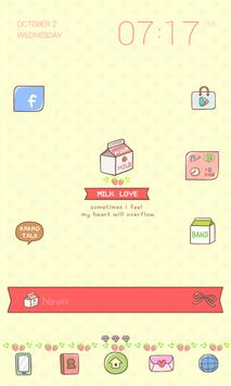 Milk Love Dodol Theme poster