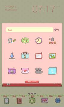 Milk Love Dodol Theme screenshot 1