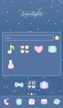 별 빛이 내린다 도돌런처 테마 screenshot 1