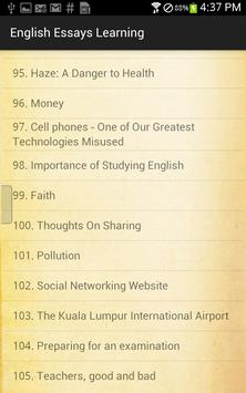 English Essays Learning apk screenshot