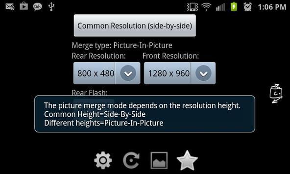 Dual Cam Photo apk screenshot