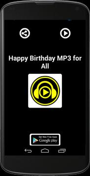 HAPPY BIRTHDAY MP3 FOR ALL apk screenshot