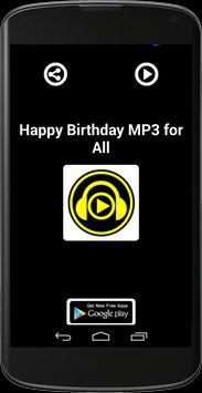 HAPPY BIRTHDAY MP3 FOR ALL screenshot 1