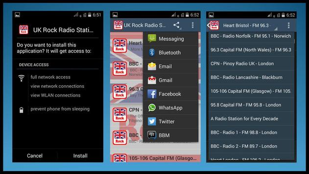 UK Rock Radio Stations apk screenshot