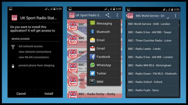 UK Sport Radio Stations screenshot 1