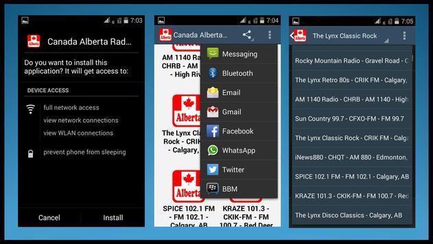 Canada Alberta Radio Stations apk screenshot