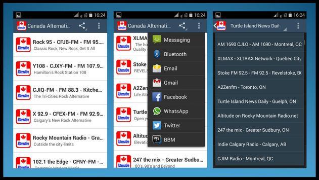 Canada Alternative Radios apk screenshot