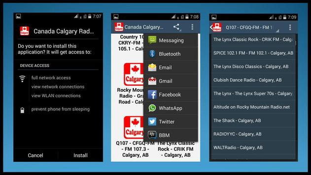 Canada Calgary Radio Stations apk screenshot