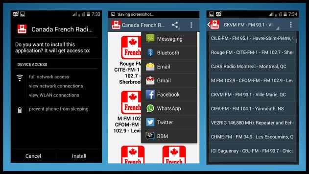 Canada French Radio apk screenshot